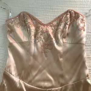 Betsey Johnson pink/nude strapless dress